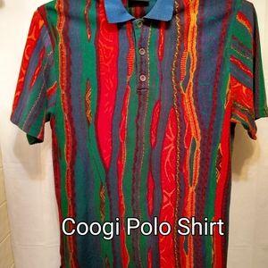 Coogi 1980 Men's MultiColor Native Polo Shirt Med